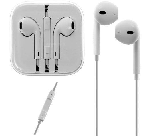 MQ Power: Original Apple EarPods mit Fernbedienung und Mikrofon MD827M/A weiß + 10 x Staubschutz