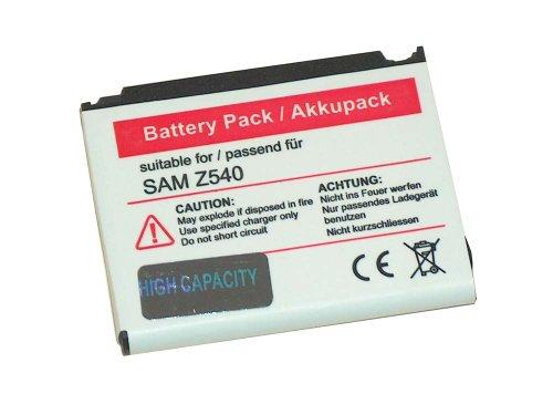 vhbw Li-Ion Akku 700mAh (3.7V) für Handy, Smartphone, Telefon Samsung SGH-P520 (Giorgio Armani), SGH-P528, SGH-Z630, SGH-Z540v, SGH-L310, Gloss.