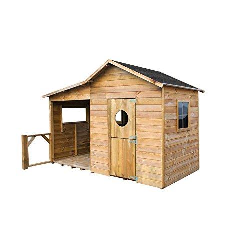 Generico Casetta in legno da giardino (ELA - 240 x 125 x 173H)