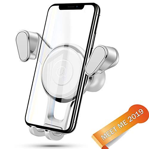 Meet me/Soporte móvil para Coche 360 Grados Rotación/Soporte GPS Coche/Sujetador de movil para Coche de Coche para iPhone x/8/7/6 Plus/6s/6/5s/SE, Android Smartphone(Blanco)