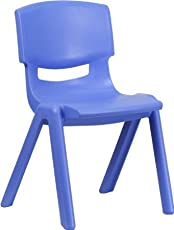 Intra Kids Strong and Durable Kid's Plastic School Study Chair, Medium (Blue, IKC-117)