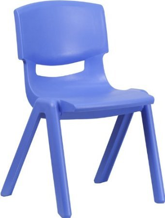 Intra Kids Strong and Durable kids Plastic school study chair - (Medium) (Blue)