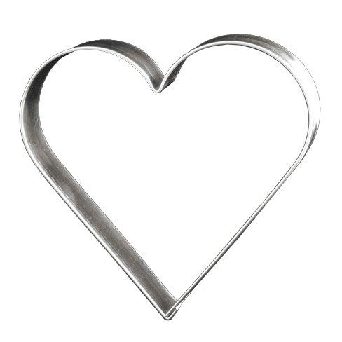 Lares Ausstechform Herz 12 cm - Lebkuchen Keks Plätzchen Ausstecher (Herz Ausstecher Set)