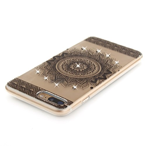 "MOONCASE iPhone 7 Plus Coque, [Diamond Painting] Flexible Silicone Bling Housse Ultra Slim Anti-choc Protection Case pour iPhone 7 Plus 5.5"" B-Flower Mandala"