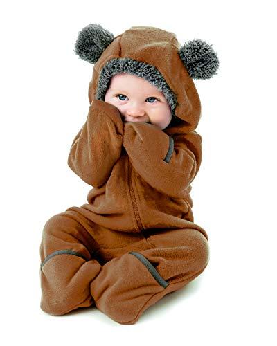 Kostüm Baby Braunbär - Funzies Fleece leichte Jacke - Winter Pyjama Oberbekleidung für Baby 12-18 monate Braunbär