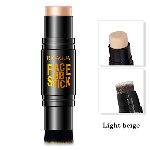 Moresave Gesicht Concealer Creme Foundation Stick Pen Corrector Contouring Make-Up mit Pinsel