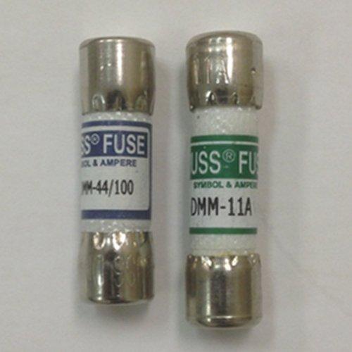 1 Combo Pack (Combo pack: 1 piece DMM-11A (DMM11) and 1 piece DMM-44/100 (DMM 44 100) Digital multimeter replacement Fuse (Fluke) by Fluke/Bussmann)
