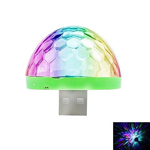 SDDMALL Mini USB Crystal Ball Stage Light pour téléphone - Noir Portable Portable USB LED Color-Changing Crystal Ball Lampe avec contrôle audio pour Android Phone (1pcs) ( Color : For Android phone )
