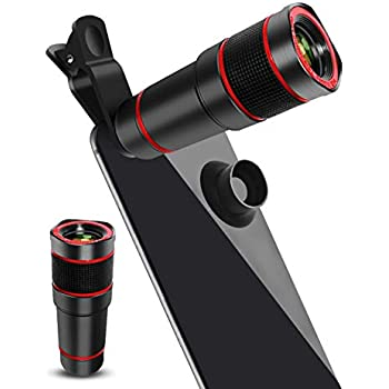 Monocular Telescope Eyecup Mobile Suitable Almost 98/% Smartphones On The Market Compatible iPhone SamsungHuawei Cell Phone Camera Lens,Universal 20X Clip-On Zoom Telephoto Lens,Stronger Phone Tripod