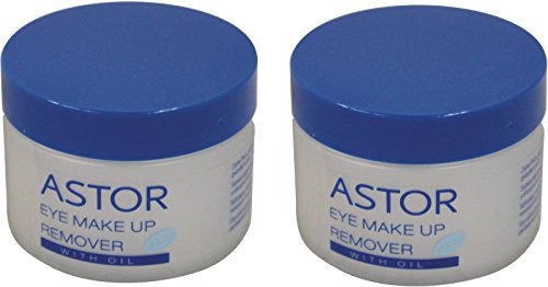 Astor Eye Make-up Remover Pads mit Öl, 50er (Doppelpack) (2-Dosen)