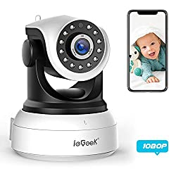 ieGeek 1080 IP Camera WiFi Home Security Surveillance Indoor CCTV Camera with HD Night Vision/Two-way Audio/Motion Detection Pan/Tilt, Smart Internal Wireless Camera for Baby/Elder/Pet Monitor