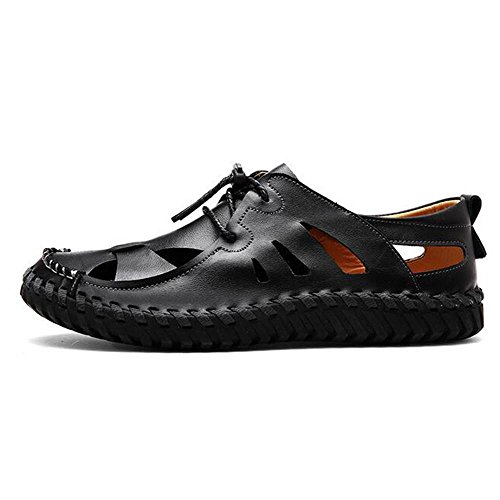 Man's Fashion Sommer Bequeme Belüftung Sandalen Hausschuhe (Multi Style Auswahl) Black