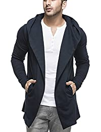 Tinted Men's Cotton Blend Hooded Cardigan