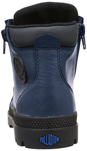 Palladium Hi Cuff Wp K, Baskets Hautes Mixte Enfant Bleu (747 Dark Denim/Black)