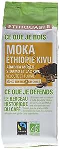 Ethiquable Café Moulu Moka Ethiopie Bio et Équitable en 250 g Max Havelaar - Lot de 4