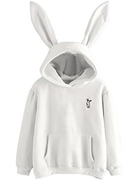 K-youth® mujer cuello redondo orejas de conejo impresión manga larga sudaderas tops otoño invierno casual baratas...