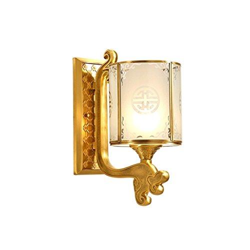 GBYZHMH Lampe de mur-mur extérieur éclairage lumière cuivre antique Single-Head Couloir escalier couloir E27 LED Lampe Murale Bienvenue