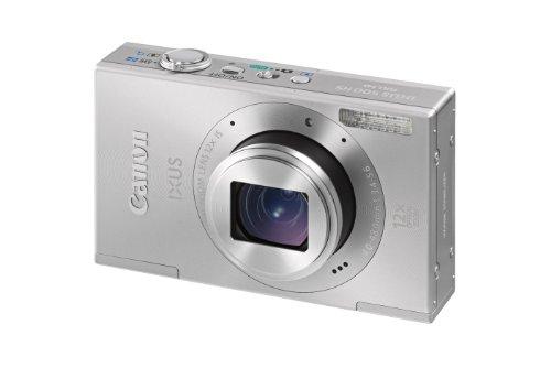 Canon IXUS 500 HS Digitalkamera (10 MP, 12-fach opt. Zoom, 7,5cm (3 Zoll) Display, Full HD, bildstabilisiert) silber 10,1 Mp Cmos-sensor