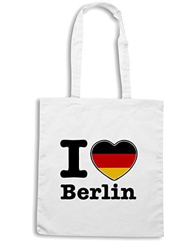 T-Shirtshock - Borsa Shopping TLOVE0017 i love berlin Bianco