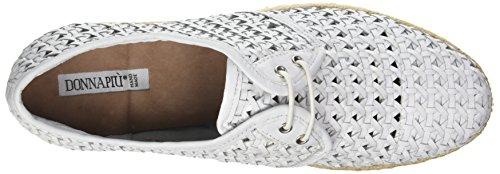 Donna Piu Damen 52015 Marina Derby Blanc (Capra Intrecciato Bianco)