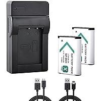BPS Sony NP-BX1 Batterie Li-ion de remplacement de haute capacité pour Sony Cyber-Shot DSC-HX50V, 60V, 300, 400V, 400, WX300 + Chargeur USB pour Sony NP-BX1 Li-ion