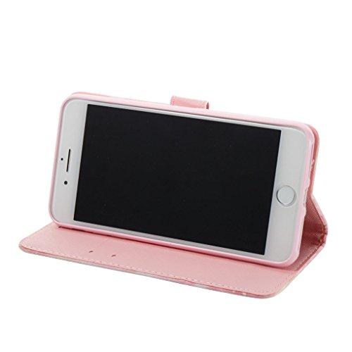 iPhone 7 Plus / 8 Plus Hülle, SATURCASE Schönes 3D Muster PU Lederhülle Ledertasche Magnetverschluss Flip Cover Brieftasche Case Handy Tasche Schutzhülle Handyhülle Hülle mit Standfunktion Kartenfäche Muster-8
