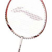 Li-Ning Badminton Racket CHEN Long Signature Series Player Edition Light Weight Carbon Graphite Shaft 79 + GMS with Full Carrying Bag Cover (CL 500 - White/Red)