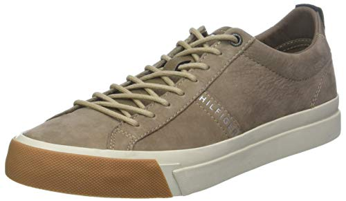 buy online 71fff f215b Tommy Hilfiger Nubuck Derby Sneaker, Zapatillas para Hombre, Beige (Taupe  Grey 005)