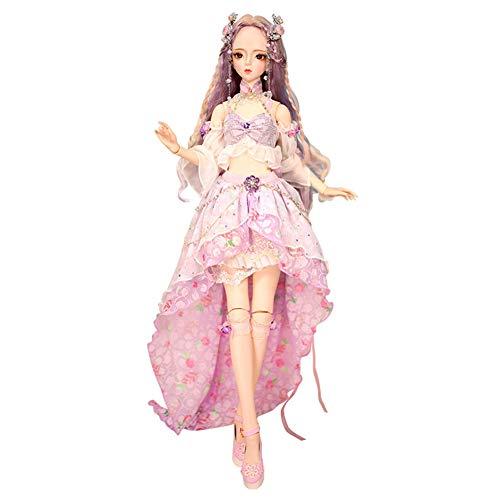MEMIND BJD 1/3 Puppe Ziyang Puppe Anime Stil Puppe Mode Puppe Geburtstagsgeschenk gemeinsame Puppe Kind Spielkamerad Mädchen Spielzeug Puppe (Makeup Doll Barbie Halloween)