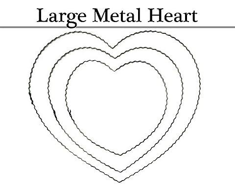 25cm Crimped Metal Heart Hoop for Wreath Making Crafts