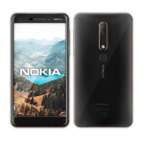 """Nokia 6.1 - Smartphone de 5.5"""" (Full-HD, LCD, Memoria de 128 GB, cámara de 16 MP, Android 8.0 Oreo), Color Negro y Cobre"""