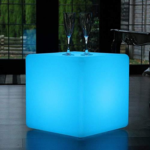 Paddia Wärme, Romantik Outdoor LED Würfel Hocker Stehlampe Wasserdicht IP68 USB Lade Modern Leuchten Sitz/Beistelltisch/Möbel 16 RGB Farbe 4 Modi Stimmungslicht + Fernbedienung Für Garten, Pool, P