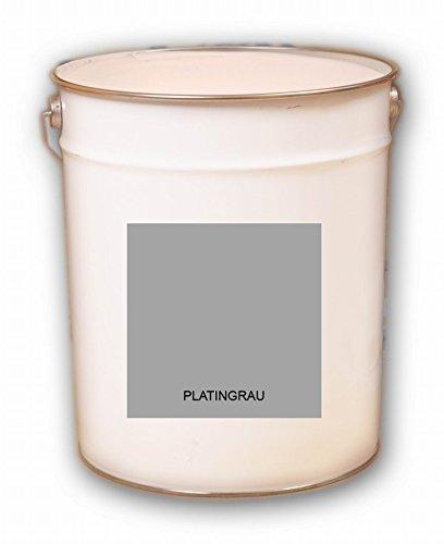 10 Liter grau Platingrau Acryl Dachfarbe Dachanstrich Ziegelfarbe Dachbeschichtung Metalldach Blechdach Acrylat Basis