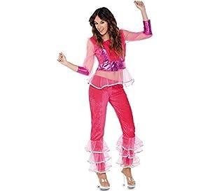 Fyasa 706235-t04-rosa Disco disfraz de niña, rosa, large