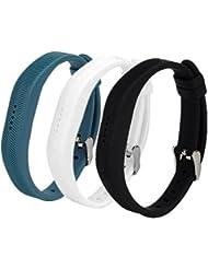 WEINISITE Accesorios de silicona reloj de la hebilla de diseño de la banda de muñeca Correa para Fitbit Flex 2 (#5)