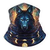 uytrgh Fleece Neck Warmer Gaiter Galaxy Wolf Soft Microfiber Headwear Face Scarf Mask for Winter Cold Weather & Keep Warm for Mens Womens 11992