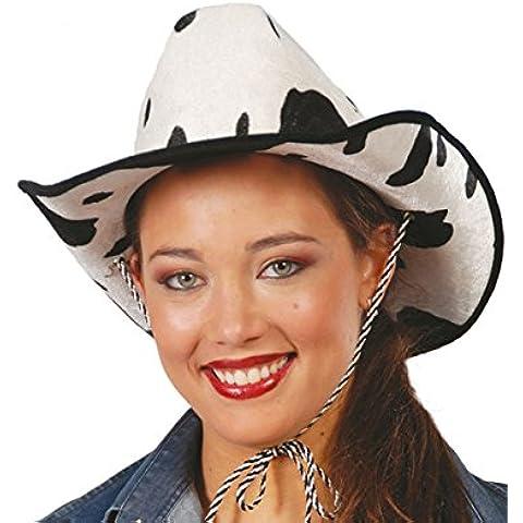 Sombrero vaquero terciopelo estampado Vaca