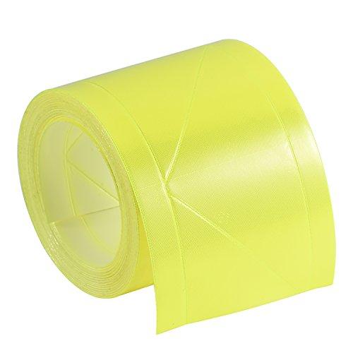 Preisvergleich Produktbild Lantra Besa 3M Scotchlite Reflektierend Band Nacht Reflektor für Bekleidung Warnweste Nähen Hohe Sichtbarkeit 100*5.08cm Long NICHT SELBSTKLEBEND Sicherheit Zubehör - Gelb