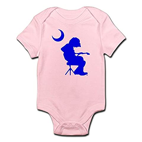 CafePress - Palmetto Moon Flag Mikey Houser Guitar Player Body - Cute Infant Bodysuit Baby Romper