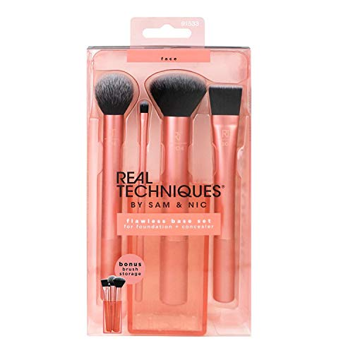 Real Techniques 1533 Flawless - Basis Pinsel-Set, 1er Pack (1 x 4 Stück) -