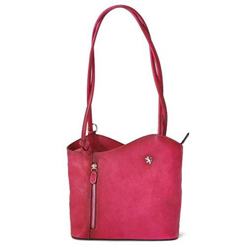 Pratesi Consuma piccola borsa in vera pelle - B465/P Bruce (Viola) Rosa