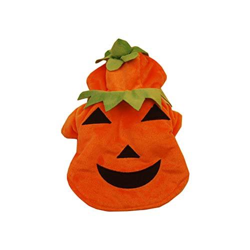UKCOCO Kleiner Hund Katze Kostüme, Halloween Kürbis Kostüm, -