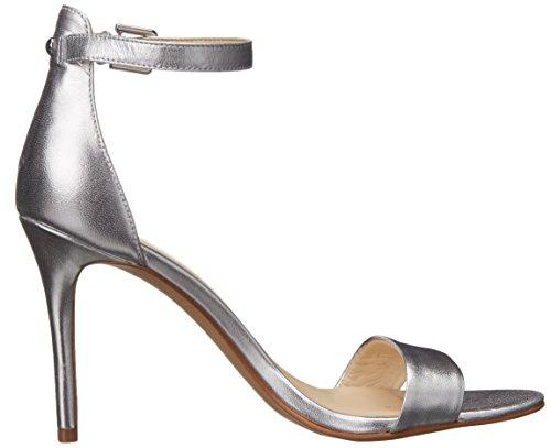 Nine West Mana metallo con tacco del sandalo Silver