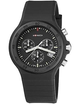 M-WATCH Unisex-Armbanduhr Maxi Black Chronograph Quarz WYO.15420.RB