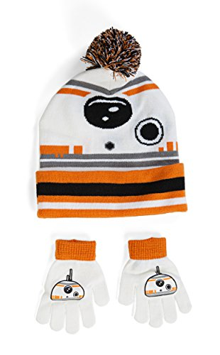 Star Wars VII: The Force Awakens BB-8 Pom Beanie Hat with Gloves