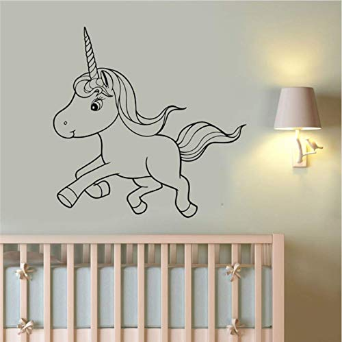 Cute Unicorn Wandaufkleber Pony Art Cartoon Dekoration Home Kind Baby Room Kindergarten Home Dekoration Wandaufkleber 58x60cm