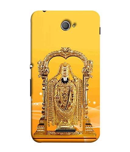 Printfidaa Gold Colour Lord Balaji Image Orange Background Printed Designer Case for Sony Xperia E4, Sony Xperia E4 Dual Back Cover