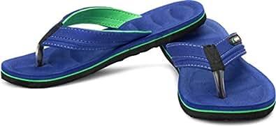 Sparx Blue Green Rubber Flip Flops for Men 6x10 (SFG-526) (8 UK)