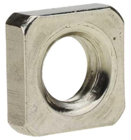 Reidl Vierkantmuttern niedrige Form M 4 DIN 562 A4 blank 10 Stück