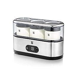 WMF KÜCHENminis Joghurtbereiter inklusive 3 Joghurt-to-go-Bechern (150ml), platzsparend, 15 Watt, BPA-frei, cromargan matt/silber